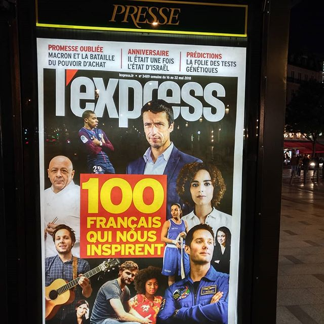 « 100 français qui nous inspirent » ... Et les 66 999 900 autres ? 🤔🙄........#publicité #VuALaPub #kiosque #publicite #frenchies #frenchsociety #igersparis #igersfrance #igparis #ig_europe #splendid_shotz #featuremeinstagood #places_wow #thisisparis #Paris #parisianlife #parisianstreets #celebs #frenchtech