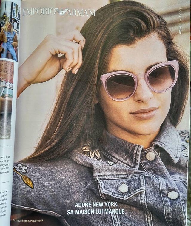 « Adore New York » mais habite à Gennevilliers ?........#VuALaPub #publicite #publicité #advert #ad #flowers #flower #veste #denim #denimjacket #motif #fleur #fleurs #brune