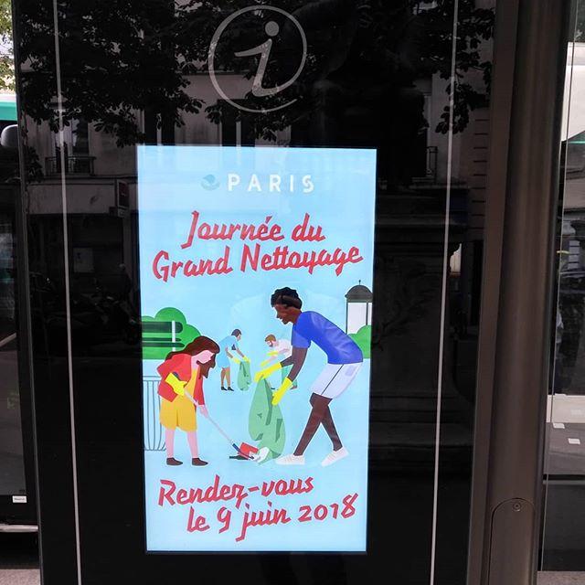 A l'annonce de cette grande campagne de ménage, Anne Hidalgo s'enfuit ! ..........#VuALaPub #publicité #publicite #hidalgo #mairiedeparis #monsieurpropre #propretédeparis #igersparis #igersfrance #igparis #ig_paris #hygiene #cleaningday