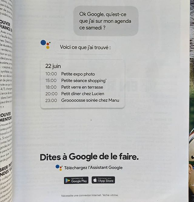 Ok Google : le 22 juin c'est pas un samedi mais un vendredi... Merci Google de planter ma vie !.........#googleassistant #assistantgoogle #google #app #digital #geek #nerd #secretary #personnalassistant #googlecalendar #fail #googlelife #googlefail #oops #wrongday #error #toolate #thankyou #thankyougoogle #thanksgoogle #mercigoogle #future #robots #hightech #tech #technology #lifehacks #date #wrongtiming